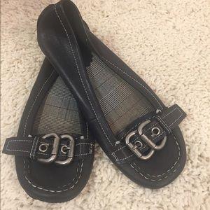 [Bakers] black flats shoes buckle 7